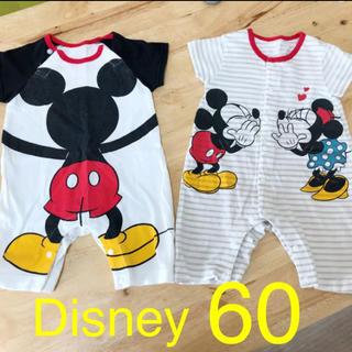 Disney - ロンパース 60 ディズニー ベビー服 まとめ売り セット 夏物 半袖