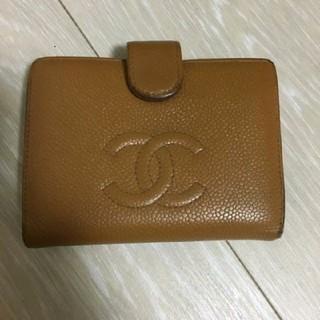 シャネル(CHANEL)のCHANEL シャネル キャビアスキン 二つ折り財布 がま口(財布)