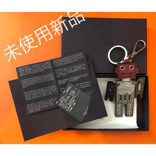 プラダ(PRADA)の未使用 美品 プラダ ロボット キーホルダー バッグ チャーム 箱付き(キーホルダー)