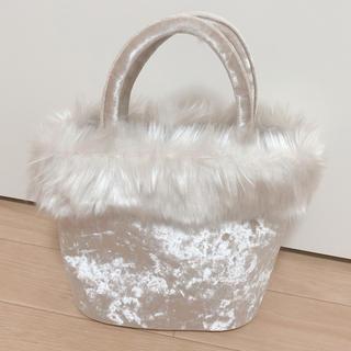 ナチュラルクチュール(natural couture)のnatural couture ベロアファートートバッグ グレージュ(トートバッグ)