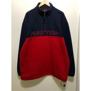 ノーティカ(NAUTICA)のMADE IN USA NAUTICA ジップフリースジャケット XL(ブルゾン)