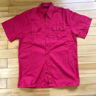 ヴェルサーチ(VERSACE)のヴェルサーチ クラシック V2 半袖シャツ M  赤 (シャツ)