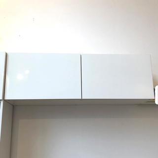 イケア(IKEA)の【引取限定】IKEA ベストー BESTÅ 収納棚 グロスホワイト扉付き(棚/ラック/タンス)