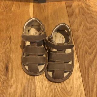 キャラメルベビー&チャイルド(Caramel baby&child )のold soles サンダル  茶  7(約14.2cm)  ベルクロタイプ(サンダル)