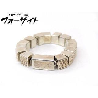グッチ(Gucci)のグッチ■シルバー SV 925 Gロゴ スクエア チェーン リング(リング(指輪))