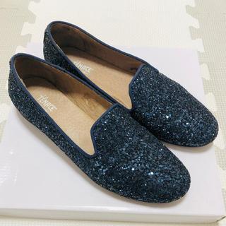 アトリエドゥサボン(l'atelier du savon)のLa TENACE グリッター オペラシューズ 37サイズ(ローファー/革靴)
