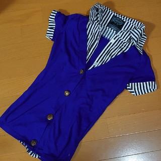 ユメテンボウ(夢展望)のシャツ重ね着風カットソー(カットソー(半袖/袖なし))