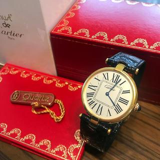 カルティエ(Cartier)のカルティエ正規美品マストヴァンドームヴェルメイユ腕時計(腕時計)