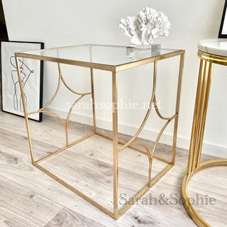 ザラホーム(ZARA HOME)のZARAHOME ガラスサイドテーブル ザラホーム(コーヒーテーブル/サイドテーブル)