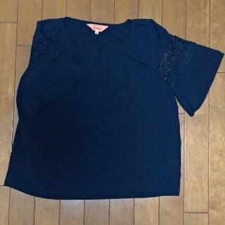 スーナウーナ(SunaUna)のSunauna紺色半袖38号(シャツ/ブラウス(半袖/袖なし))