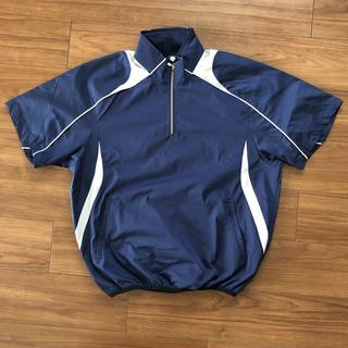 デサント(DESCENTE)のDESCENTE 半袖プルオーバーコート ネイビー  STD465(ウェア)