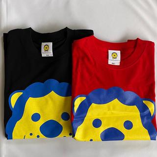 未使用 タカアンドトシ ライオン Tシャツ 赤 黒 サイズS XS 2枚セット(お笑い芸人)