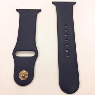 アップルウォッチ(Apple Watch)のアップルウォッチ ラバーベルト 紺 Apple Watch 42mm 44mm(その他)