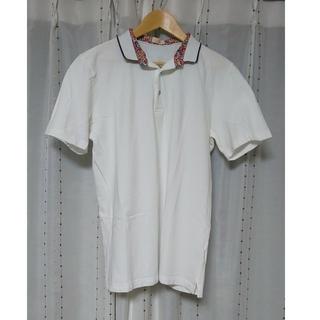 アルテア(ALTEA)の【美品】アルテア 花柄 ポロシャツ 鹿の子 メンズ XL(ポロシャツ)