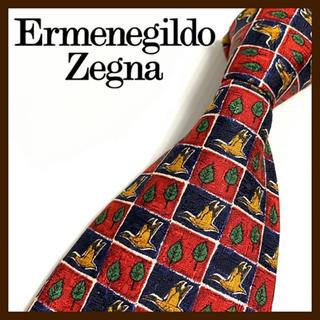 エルメネジルドゼニア(Ermenegildo Zegna)の【美品】エルメネジルドゼニア シルクネクタイ イタリア製 高級 人気ブランド(ネクタイ)
