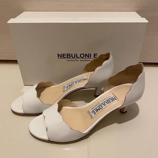 ペリーコ(PELLICO)の【完売品】NEBULONI E. LULU スカラップサンダル ホワイト(サンダル)