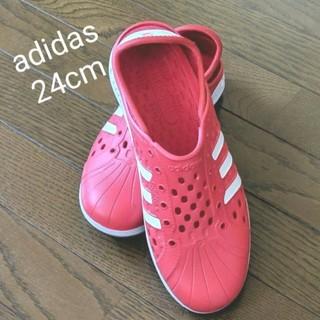 アディダス(adidas)のadidas ウォーターシューズ 赤(マリン/スイミング)