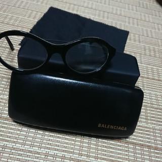 バレンシアガ(Balenciaga)の【さらに値下げ】BALENCIAGA(バレンシアガ) 伊達眼鏡 黒縁 ケース付き(サングラス/メガネ)