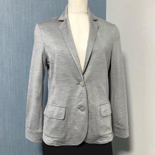 AMACA グレー 洗えるシルクジャージーのジャケット