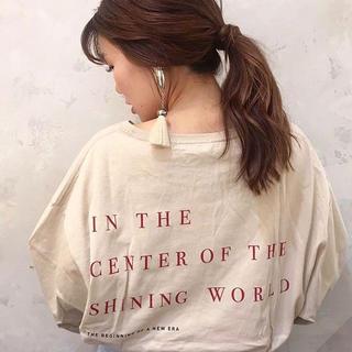 フーズフーチコ(who's who Chico)の春新作❁フーズフーチコ 5分袖バックプリントビッグT(Tシャツ(長袖/七分))