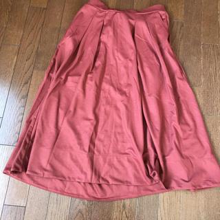明るめ 赤 スカート(ロングスカート)
