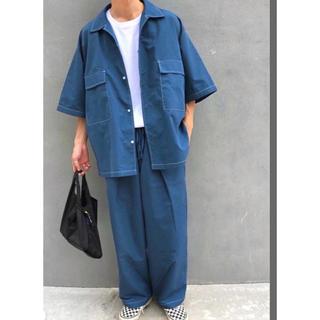ハレ(HARE)の韓国 ステッチシャツ セットアップ  (シャツ)
