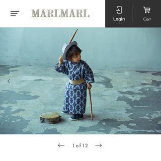 ボンポワン(Bonpoint)の【新品未使用】マールマール浴衣 yukata 3 hishi(甚平/浴衣)