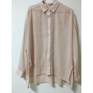 フォーエバートゥエンティーワン(FOREVER 21)のシアーオーバーサイズシャツ(シャツ/ブラウス(長袖/七分))