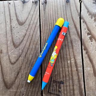 ミツビシ(三菱)のアメコミ シンプソンズ シャープペン&名古屋グランパス クリック式消しゴムセット(ペン/マーカー)