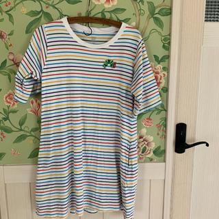 グラニフ(Design Tshirts Store graniph)のはらぺこあおむしグラニフボーダーワンピース(ひざ丈ワンピース)