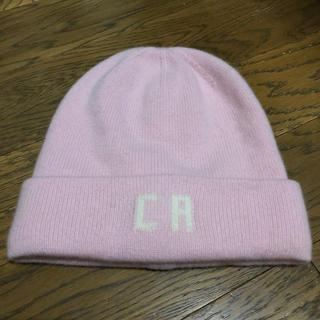ロンハーマン(Ron Herman)のロンハーマン Ron Herman ニット帽 ピンク カシミヤ100%(ニット帽/ビーニー)