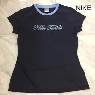 ナイキ(NIKE)のNIKE ナイキ  紺色×水色文字(Nike Tennis) Mサイズ(ウェア)