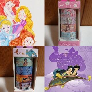 ディズニー(Disney)のプリンセス&アラジン マスキングテープセット(テープ/マスキングテープ)