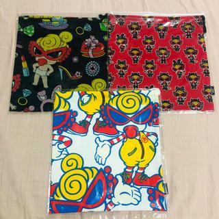 ヒステリックミニ(HYSTERIC MINI)のヒステリックミニ 巾着3枚セット(ランチボックス巾着)