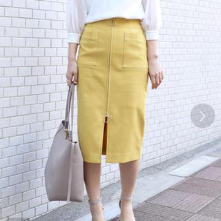 ノーブル(Noble)の美品☆ノーブル Noble☆ダブルクロスフープジップタイトスカートサイズ38(ひざ丈スカート)