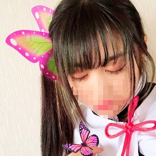 栗花落カナヲイメージ髪飾り19 ヘアピン 鬼滅ノ刃 コスプレ(小道具)