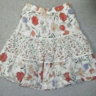 ケイトスペードニューヨーク(kate spade new york)のケイトスペードニューヨークのスカート花白ピンクレースパッチワーク160(スカート)