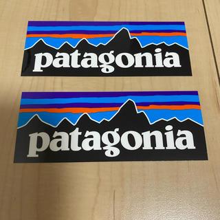 パタゴニア(patagonia)のpatagonia  ステッカー長方形2枚(ステッカー)