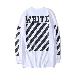 OFF-WHITE - ❤大人気❤オフホワイトOFF-WHITE 男女兼用 長袖 ホワイト