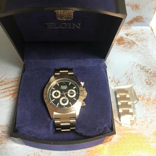 エルジン(ELGIN)のエルジン クロノグラフ ブラック(腕時計(アナログ))