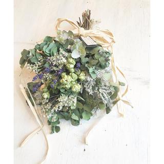 Miss green dried flower〜ラベンダーとグリーンのスワッグ(ドライフラワー)