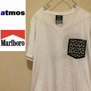 アトモス(atmos)の【激レアTシャツ!】アトモス×マルボロ 胸元スニーカー柄ポケット 半袖Tシャツ(Tシャツ/カットソー(半袖/袖なし))