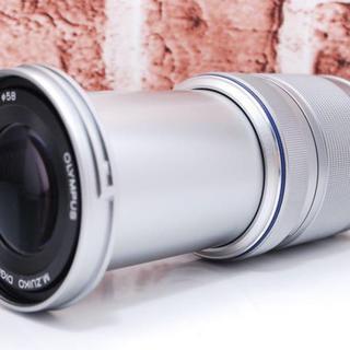 オリンパス(OLYMPUS)の★超望遠ズーム★オリンパス 40-150mm シルバー(レンズ(ズーム))