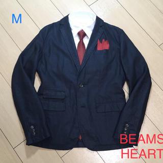 BEAMS - 美品★ビームス/BEAMS×リネン ダークネイビーアンコンジャケット/A559