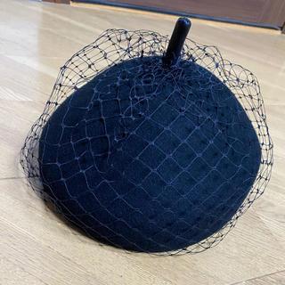 チュールベレー帽(ハンチング/ベレー帽)