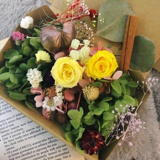 42番 洋書付き もりもり花材セット ハンドメイド ドライフラワー 花材 (ドライフラワー)