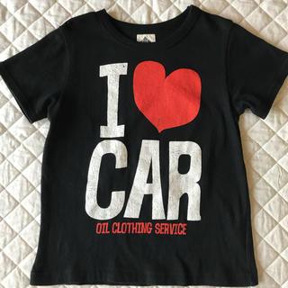 """オイル(OIL)の★OIL★""""I ❤︎ CAR"""" 黒 半袖Tシャツ 120cm(110cm)(Tシャツ/カットソー)"""
