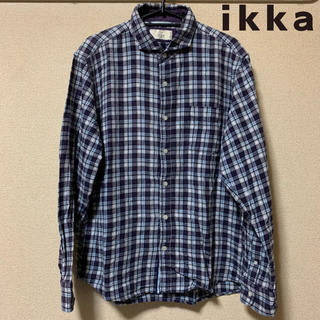 イッカ(ikka)の【美品】ikka ホリゾンタルカラーチェックシャツ(シャツ)