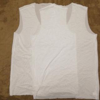 ユニクロ(UNIQLO)のユニクロ エアリズム  men's Vネック 2枚セット(Tシャツ/カットソー(半袖/袖なし))