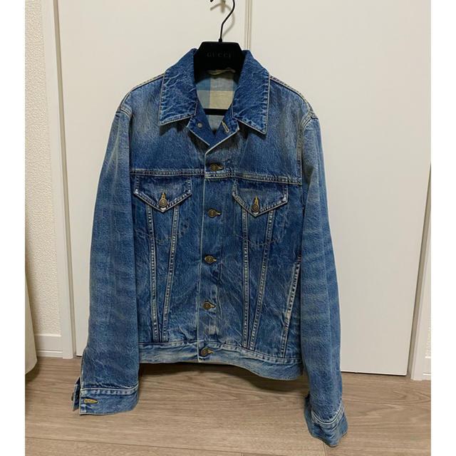 Gucci(グッチ)のグッチ デニムジャケット 春画 42 メンズのジャケット/アウター(Gジャン/デニムジャケット)の商品写真